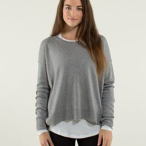 Lululemon Pure Balance Sweater Grey Long Sleeve 12
